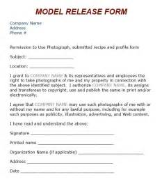 photography model release form template 8 best images about model release on models