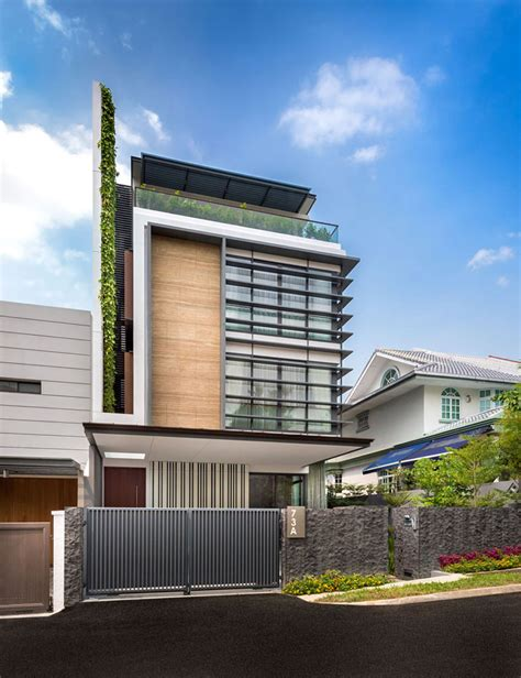 modern green house modern green wall house in singapore by adx architects pte