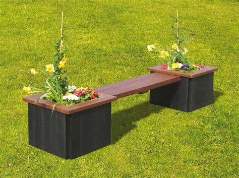 planters with bench seating recycled composite furniture benches seating