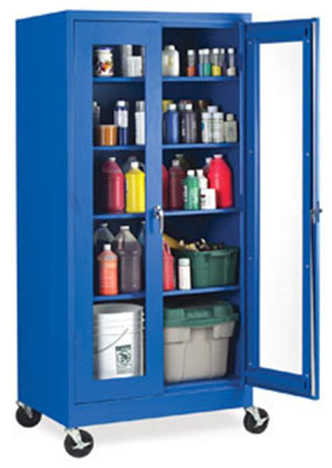 art supply storage cabinet blue