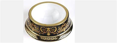 gold designer dog bowls hawthorne collection fancy versace barocco pet bowl 754