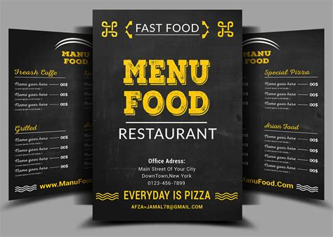 fast food menu template fast food menu flyer design psd