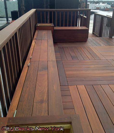 Diy Window Planter Box - clinton st ipe wood deck carroll gardens brooklyn contemporary patio new york by