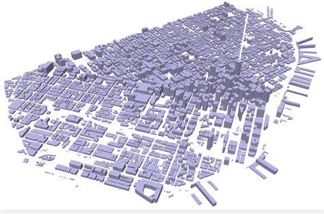 san francisco heightmap the raedar footprints some building outline
