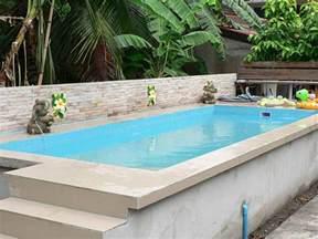 small above ground swimming pools backyard design ideas
