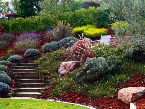 landscape ideas for hilly yard image landscaping