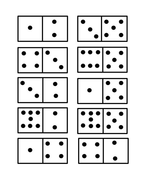 Domino Flash Cards Printable