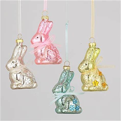 mercury glass bunny ornaments easter pinterest