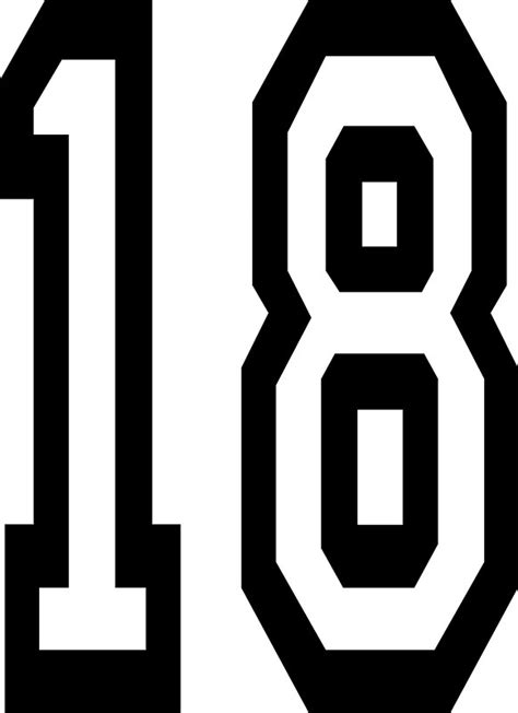 number 18 digital art stickers redbubble