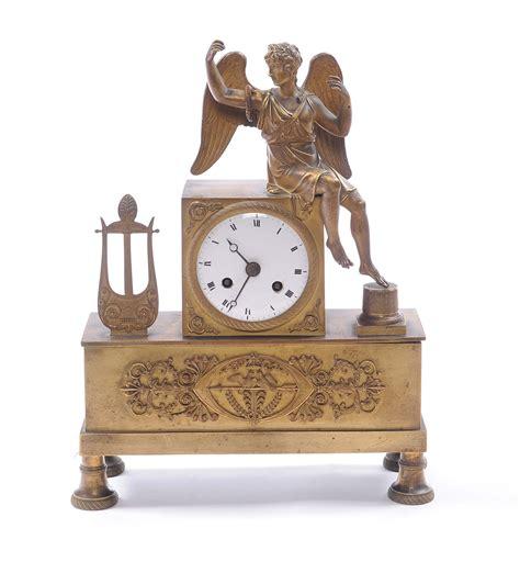 pendola da tavolo pendola da tavolo impero in bronzo dorato antiquariato e