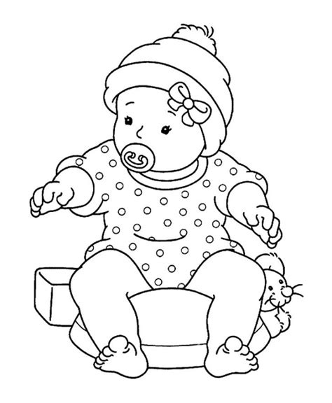 Free Baby Coloring Pages free printable baby shower coloring pages az coloring pages