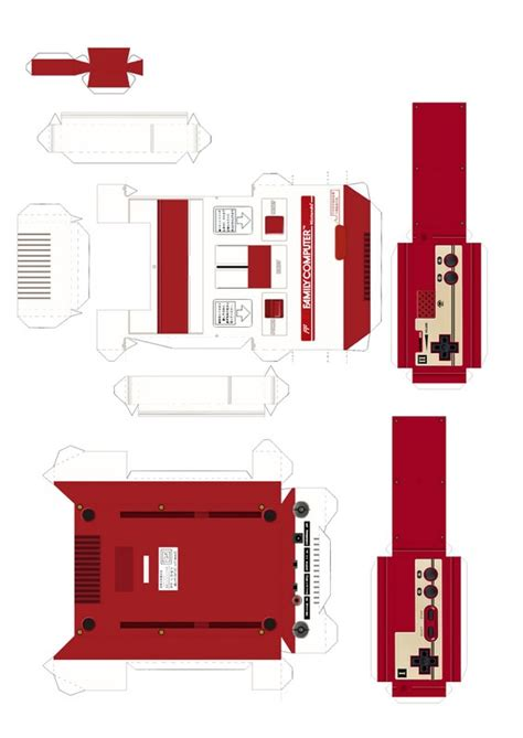 Nes Papercraft - famicom papercraft template by jhonat on deviantart