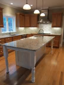 Kitchen Island With Cabinets And Seating White Kitchen Island With Granite Countertop And Prep Sink