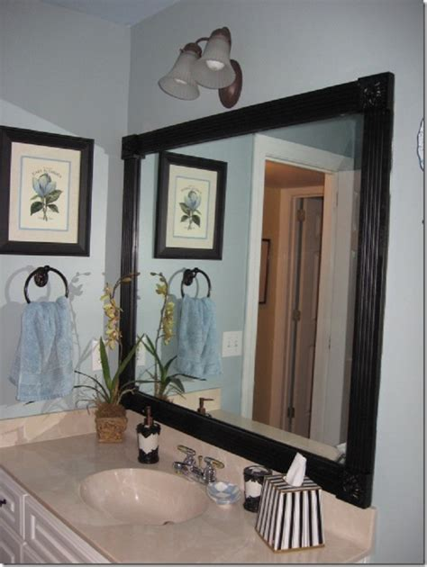 diy frame bathroom mirror home top 10 lovely diy bathroom decor and storage ideas
