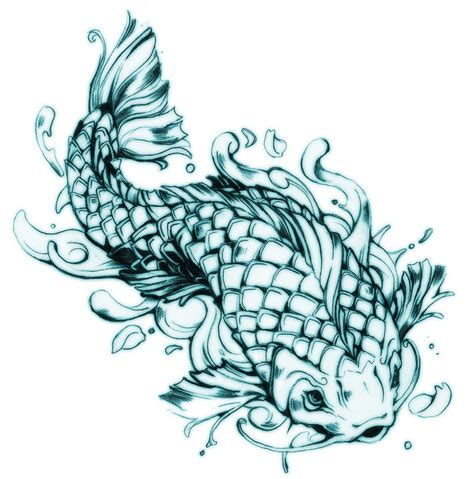 fish design tattoo koi fish design by 121642 on deviantart