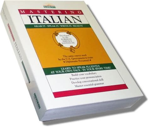 the italian books mastering italian book only foreign service institute