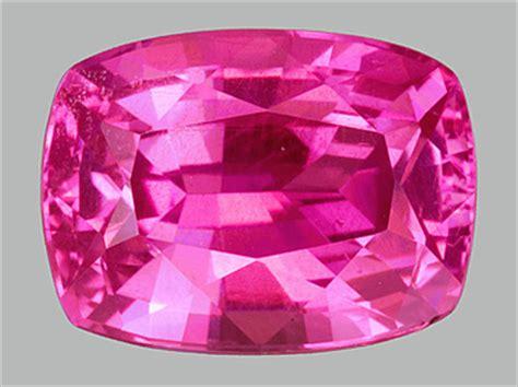 cushion cut pink sapphire gemstone image