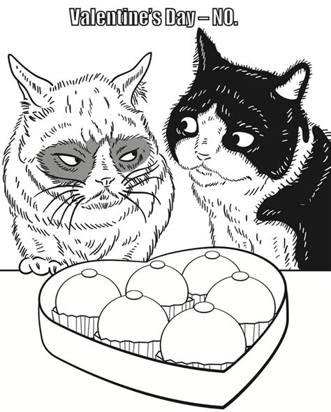 coloring page grumpy cat welcome to dover publications