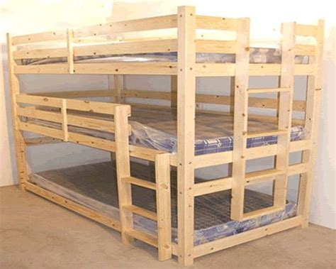 Bunk Beds With Mattresses Included For Sale by 3 Tier Heavy Duty Wooden Bunk Beds With Mattresses