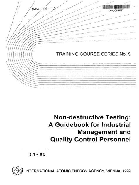 NDT Guidebook | Ensayo no destructivo | Mecánica de fractura