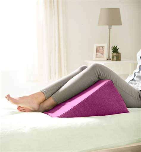 upright bed pillow ava wool effect bed wedge cushion back rest upright