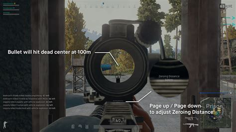 pubg bullet drop aiming and zeroing basics