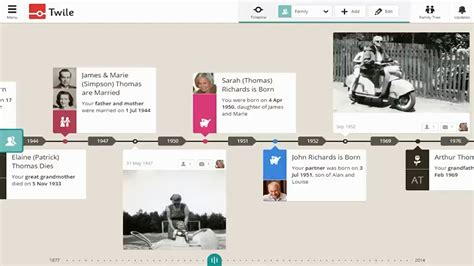 youtube layout timeline introducing twile s family history timeline youtube