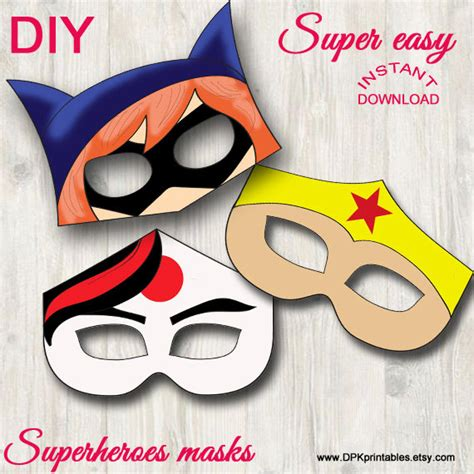 supergirl mask template masks superheroes instant
