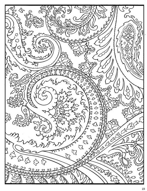 coloring page designs paisley designs coloring pages