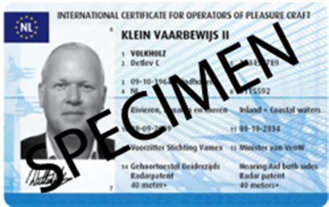 klein vaarbewijs en icc straks op een handzame pas - Vaarbewijs Pasje Aanvragen