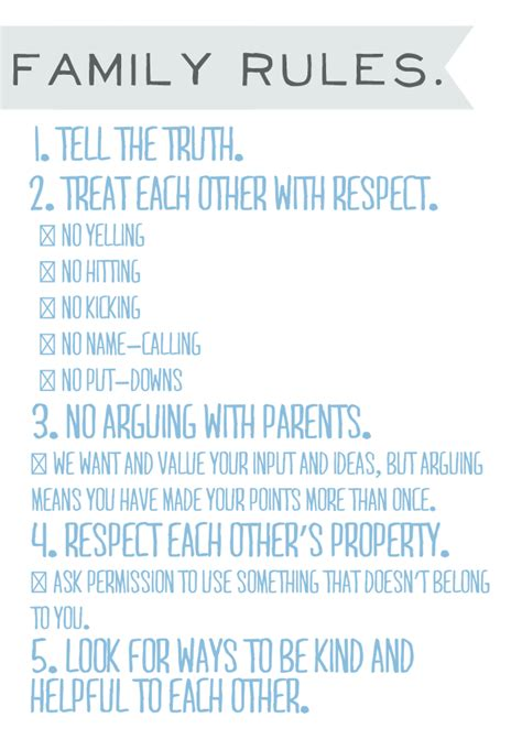printable house rules list irocksowhat family rules printable looks a lot like