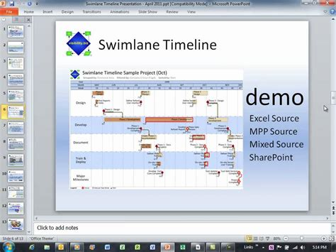 swimlane timeline template swimlane timeline webcast april 2011 part 2 of 7 excel