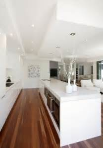 Modern Kitchen Designs Australia overlooking living room modern kitchen by kitchens by design australia
