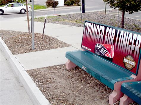 stop bench advertising calgary bench advertising outdoor advertising and promotions