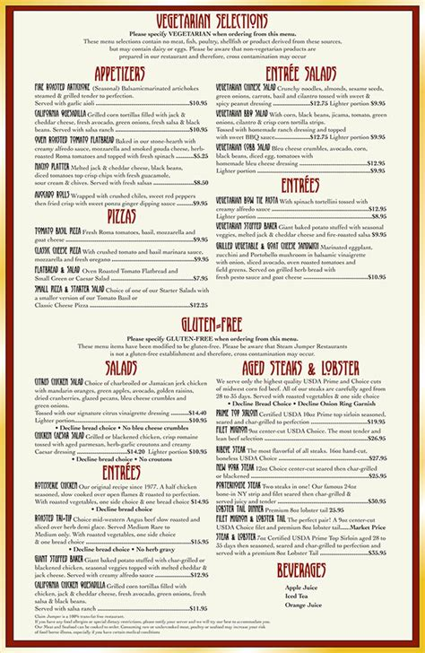 layout of a restaurant menu menu layout on behance