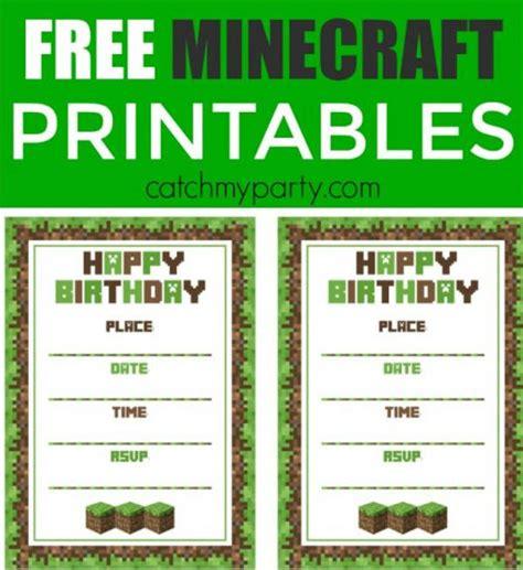 6 Free Minecraft Printables Free Premium Templates Free Printable Minecraft Birthday Invitations Templates
