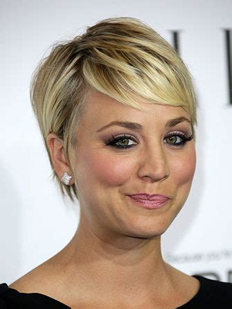 pixie hair for 26 years old kaley cuoco sweeting responds to feminist controversy