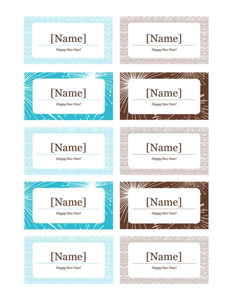 Tag Template Word by Name Tag Templates For Word