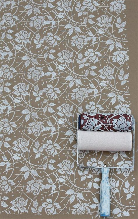 wallpaper paint roller sea rose patterned paint roller and applicator set