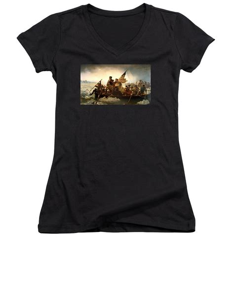 T Shirt George Washington 01navy Limited Product washington crossing the delaware juniors v neck for sale