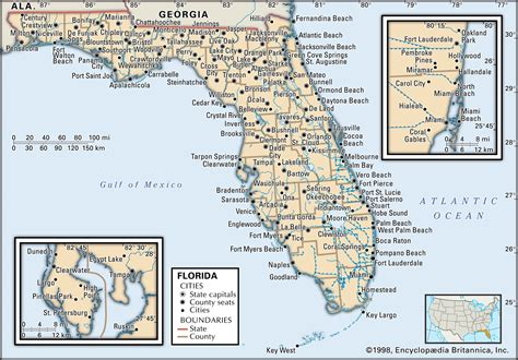 florida county and city map maps counties cities america go fishing store
