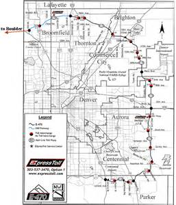 map of toll roads in denver toll road map denver mappery