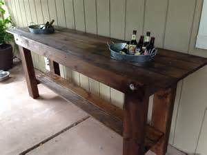 Patio Serving Table Outdoor Serving Table With Built In Buckets Middle Deck Home Sweet Home