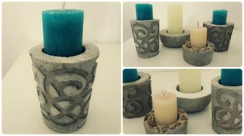 kerzenhalter beton kerzenhalter aus beton 2 diy concrete candle holder