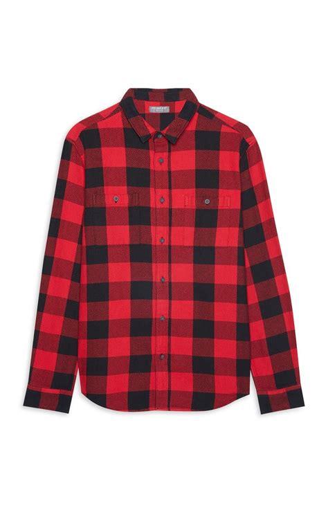 camisa a cuadros roja camisa roja con cuadros primark online
