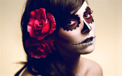 Makeup Sk Ll sugar skull makeup wallpaper 231673