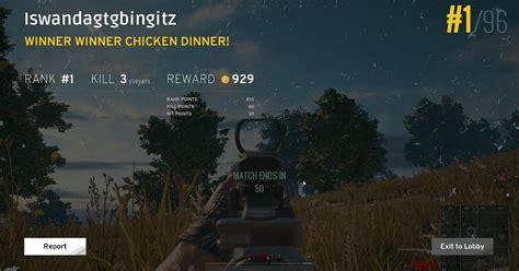 membuat winner chicken dinner pubg palsu  fake