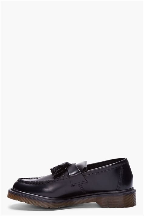 dr martens loafers with tassels dr martens black leather adrian tassel loafers in black