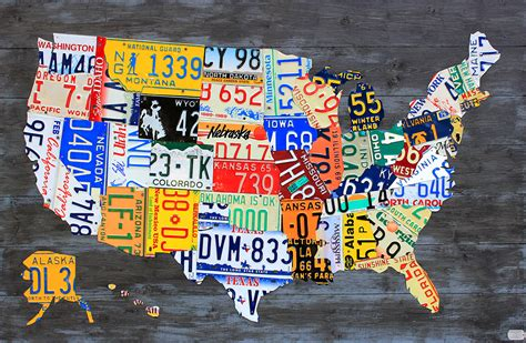 usa license plate map license plate and license plate maps by design turnpike