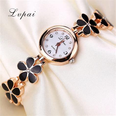 gold pattern style watch lvpai brand luxury crystal gold watches women fashion